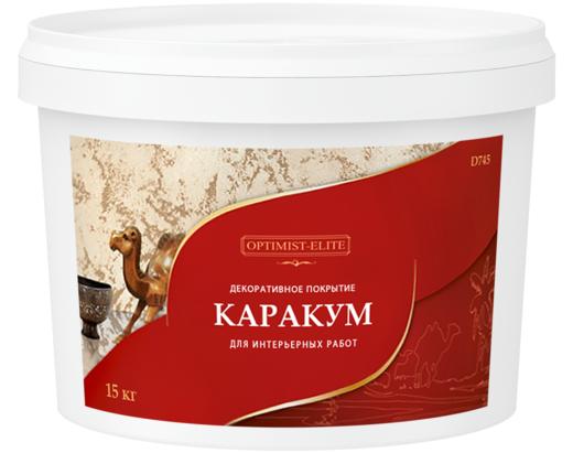 Декоративное покрытие с эффектом песка Оптимист Элит D 745 Каракум 3.5 кг