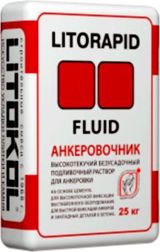 Литокол Litorapid Fluid Анкеровочник высокотекучий безусадочный подливочный раствор для анкеровки на основе цемента