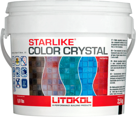 Литокол Starlike Color Crystal эпоксидная затирочная смесь (2.5 кг) C.354 бежевая (Гавана)