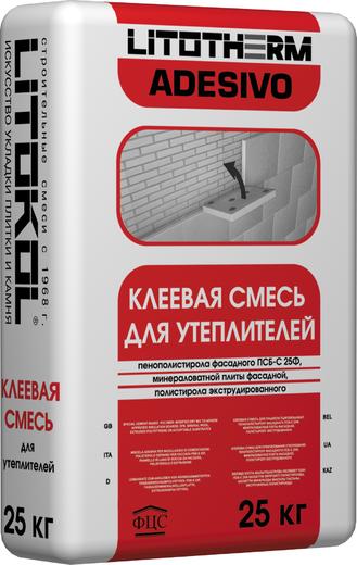 Литокол Litotherm Adesivo клеевая смесь для фасадного утеплителя (25 кг)