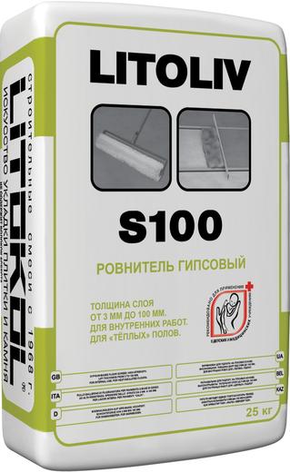 Litoliv s100 быстротвердеющий гипсовый для пола 25 кг