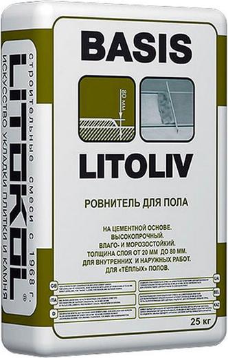 Litoliv basis быстротвердеющий высокопрочный грубый для пола на цементной основе 25 кг