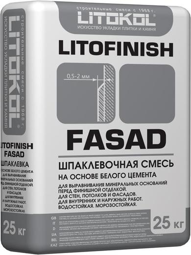 Литокол Litofinish Fasad шпаклевочная смесь на основе белого цемента