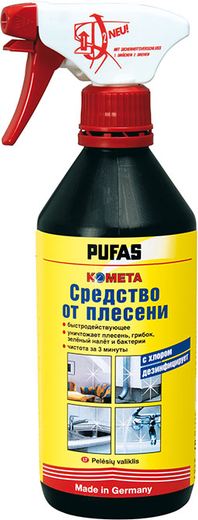 Пуфас Комета средство от плесени с хлором дезинфицирует