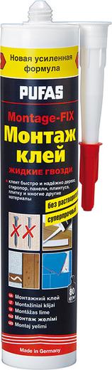 Пуфас Montage-FIX монтаж клей/жидкие гвозди без растворителей суперпрочный (400 г)