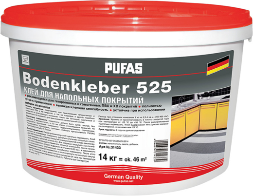 Пуфас Bodenkleber 525 клей для напольных покрытий (7 кг)