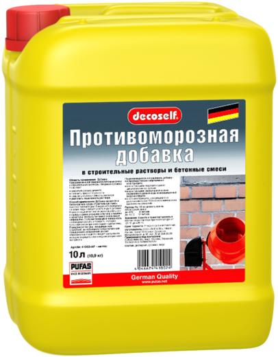 Пуфас Decoself противоморозная добавка в строительные растворы и бетонные смеси