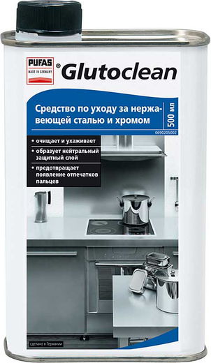 Пуфас Glutoclean Edelstahl und Chrom Pflege средство по уходу за нержавеющей сталью и хромом (500 мл)
