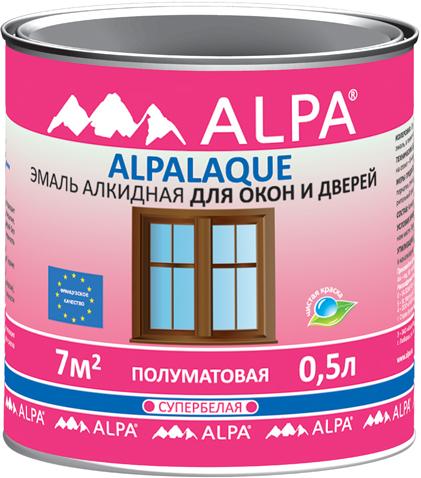Alpa Alpalaque эмаль алкидная для окон и дверей