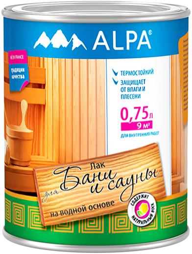 Лак на водной основе Alpa Для бани и сауны (750 мл)