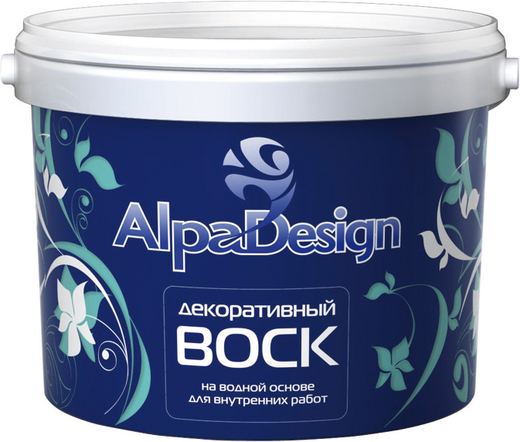 Воск Alpa Design декоративный на водной основе 1 л парижский розовый