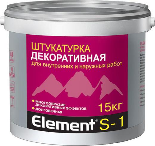 Штукатурка Alpa Element s-1 декоративная 15 кг