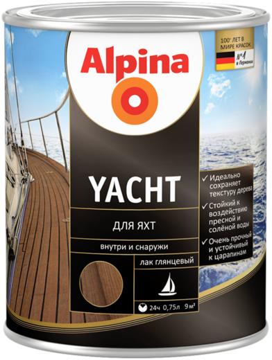 Лак Alpina Yacht для яхт 750 мл