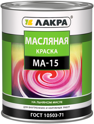 Лакра МА-15 масляная краска на льняном масле (25 кг) белая