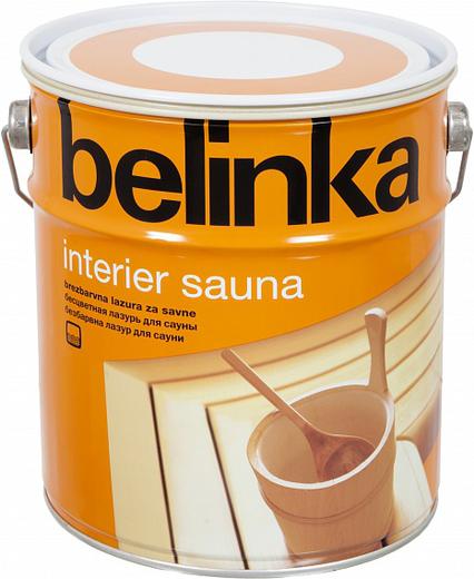 Белинка Interier Sauna бесцветная лазурь для сауны на водной основе (2.5 л)
