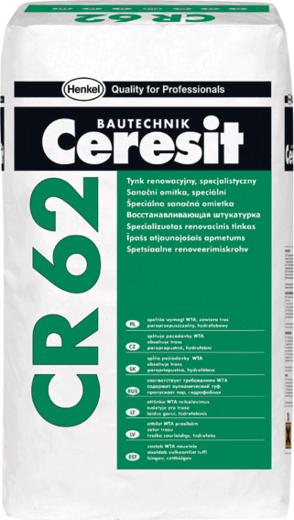 Штукатурка Ceresit Cr 62 восстанавливающая гидрофобная санирующая специальная 20 кг