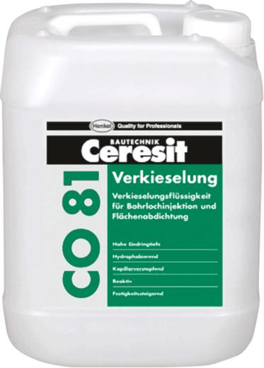 Ceresit CO 81 инъекционное средство для блокирования капиллярной влаги (30 кг) желто-зеленоватый