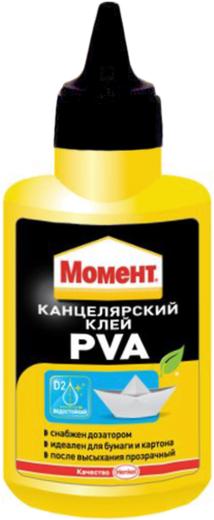 Момент ПВА PVA канцелярский клей (50 г)