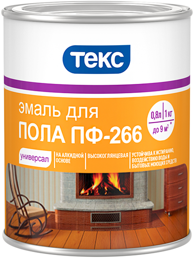 Текс Универсал ПФ-266 эмаль для пола (22 кг) золотисто-коричневая