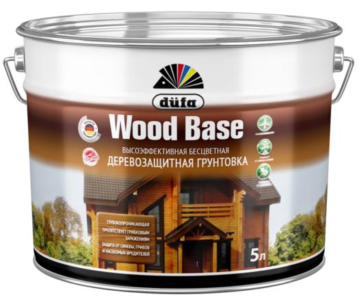 Грунтовка Dufa Wood base высокоэффективная бесцветная деревозащитная 5 л