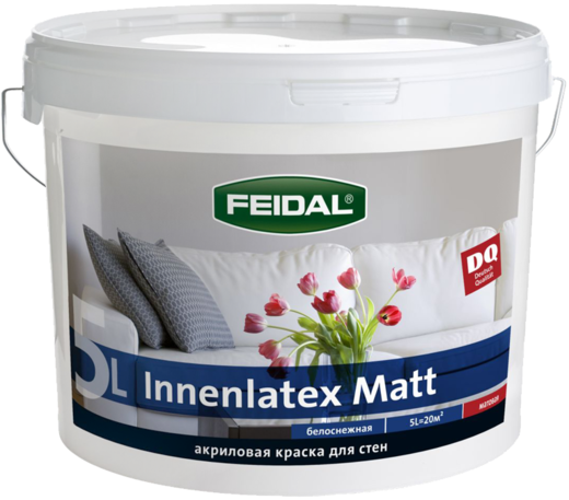 Feidal Novatic Innenlatex Matt Profi матовая акриловая краска для стен внутри помещений