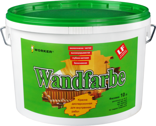 Feidal Worker Wandfarbe краска дисперсионная для внутренних работ (2.5 л) белоснежная