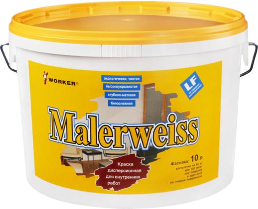 Feidal Worker Malerweiss краска акриловая водно-дисперсионная для внутренних работ (2.5 л) белоснежная