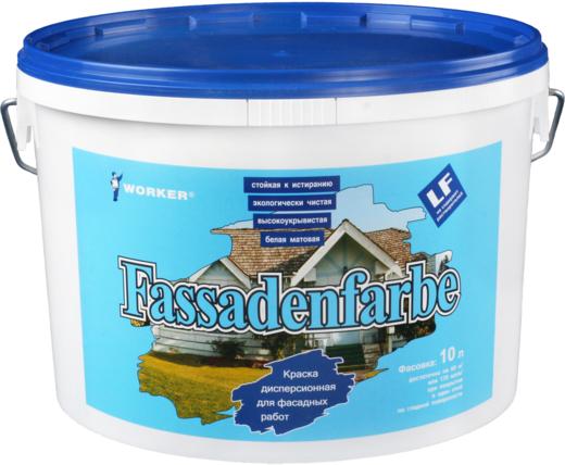 Feidal Worker Fassadenfarbe краска дисперсионная для фасадных работ (10 л) белая морозостойкая