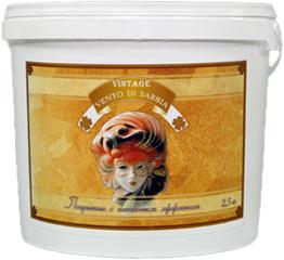 Feidal Vintage Vento di Sabbia покрытие с песчаным эффектом (5 кг) серебряное
