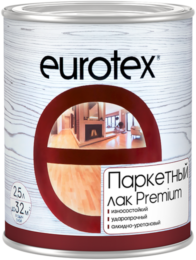Лак Евротекс Premium паркетный алкидно-уретановый износостойкий 10 л полуматовый