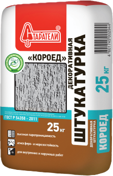 Штукатурка Старатели Декоративная короед 25 кг зерно 1.5-2 мм