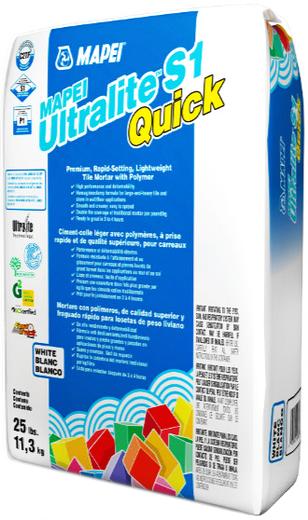 Mapei Ultralite S1 Quick клей для плитки (15 кг) белый