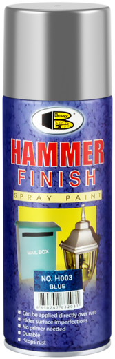 Bosny Hammer Finish Spray Paint спрей-краска молотковая (400 мл) серебристая молотковая