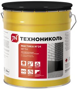 Технониколь №24 МГТН мастика битумная для гидроизоляции строительных конструкций (20 кг)