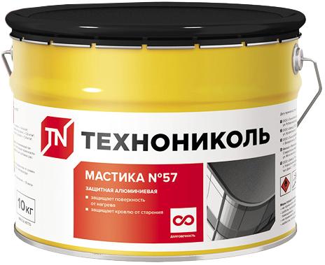 Технониколь №57 мастика битумно-полимерная защитная алюминиевая (20 кг)