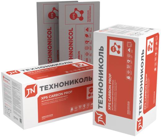 Carbon prof 250 теплоизоляционная из экструзионного пенополистирола 0.58*1.18 м/40 мм