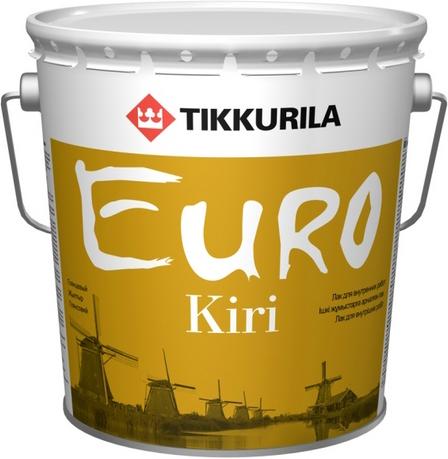 Тиккурила Евро Кири лак для внутренних работ паркетный алкидно-уретановый (9 л) полуматовый