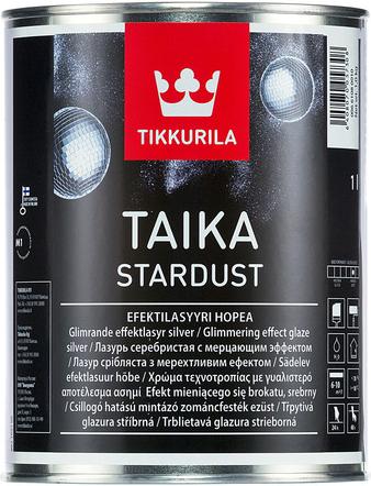 Тиккурила Тайка Стардаст лазурь серебристая с мерцающим эффектом (900 мл) серебристая мерцающая