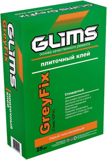 Глимс Greyfix плиточный клей серый толстослойный (25 кг)