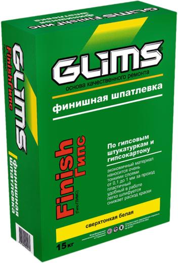 Глимс Finish Гипс суперфинишная шпатлевка сверхтонкая белая (15 кг)