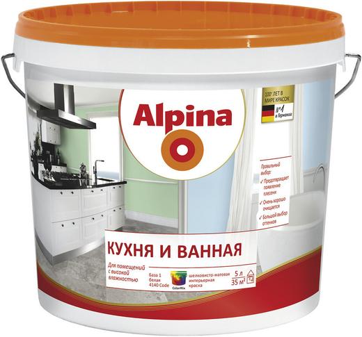 Alpina Кухня и Ванная интерьерная краска (2.5 л) белая