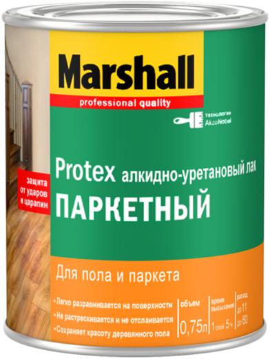 Алкидно-уретановый лак для пола и паркета Marshall Protex Паркетный 2.5 л глянцевый