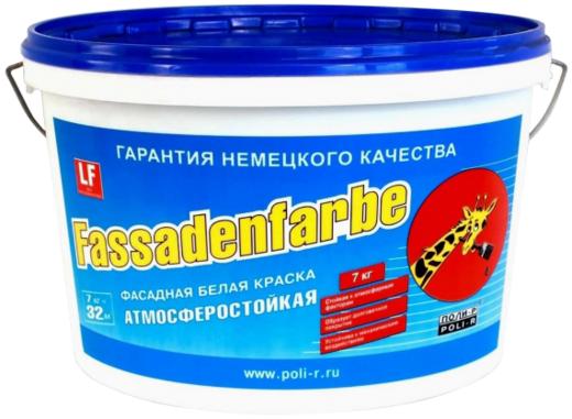 Поли-Р Fassadenfarbe фасадная краска атмосферостойкая (14 кг) белая морозостойкая