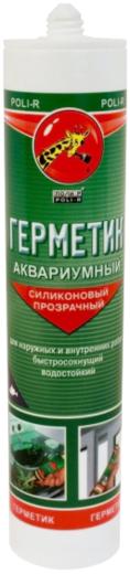Герметик Поли-Р Аквариумный силиконовый 280 мл белый