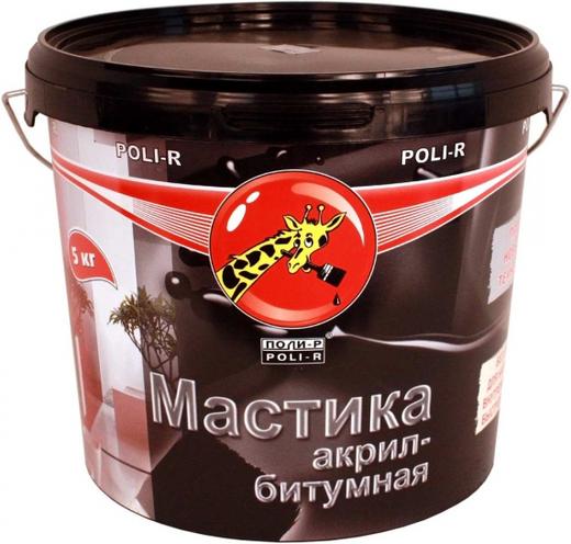 Поли-Р мастика акрил-битумная (1 кг) черная