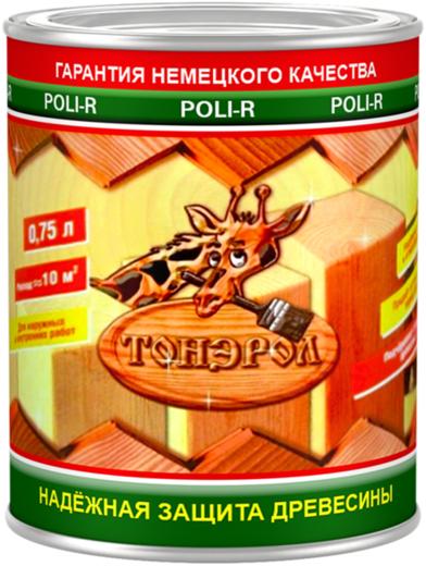 Поли-Р Тонэрол пропитка для дерева (750 мл) белая береза
