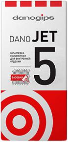 Даногипс Dano Jet 5 шпатлевка полимерная для внутренней отделки