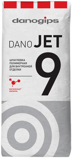 Шпатлевка Danogips Dano jet 9 полимерная для внутренней отделки 20 кг