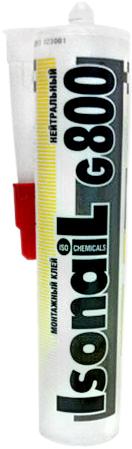 Iso Chemicals Isonail G800 Нейтральный монтажный клей (300 мл)