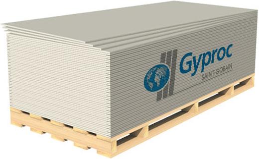 Оптима универсальный гипсокартонный дляпотолка стен и перегородок гкл 1.2*2.5 м/12.5 мм